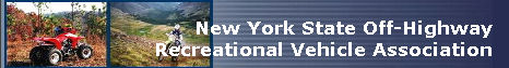 New York State Off-Highway Recreational Vehicle Association Banner Image